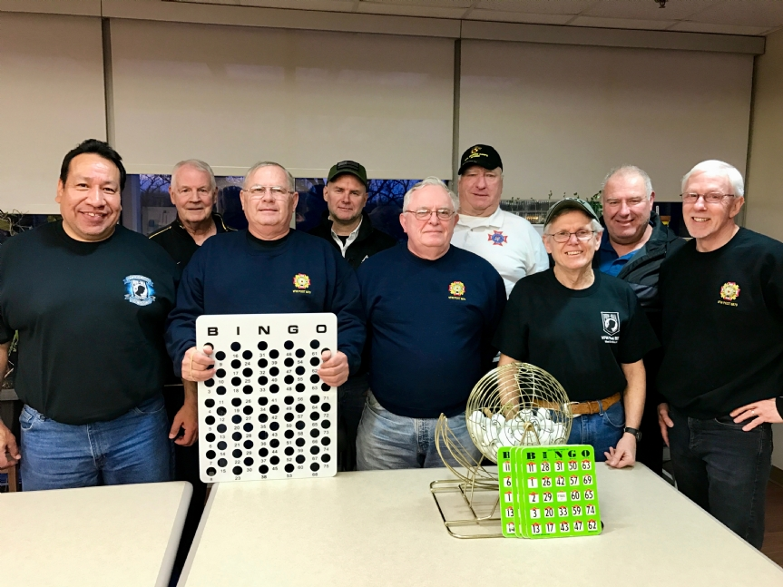 March Bingo at the Des Moines VA Hospital hosted by VFW Post 8879 members was a lively event enjoyed by all.